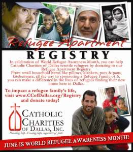 June is National Refugee Awareness Month! Donate to our Refugee Apartment Registry today!